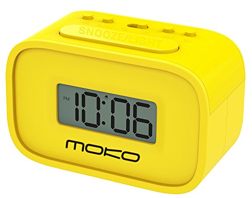 MoKo Digital Alarm Clock, Wecker Nachttischuhr Mini Clock LCD Display Batteriebetriebend mit Schlummer Funktion/Hintergrundbeleuchtung...