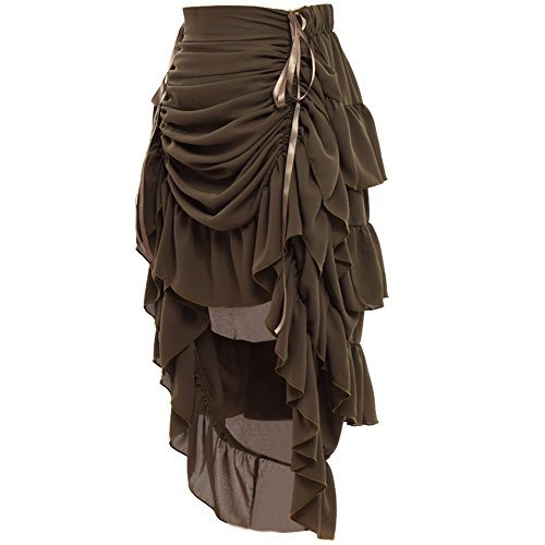 GRACEART Women's Victorian Steampunk Skirt Amy Green ()
