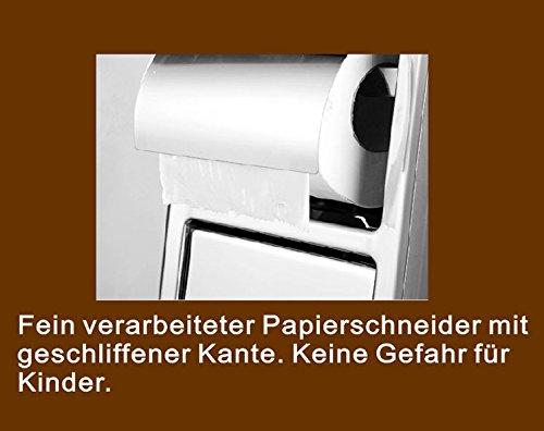 agute toilettenpapierhalter aus hochwertigem edelstahl matt unterputz zum einbau platzsparend - Freistehender Toilettenpapierhalter Mit Lagerung
