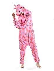 Idea Regalo - NNDOLL Pigiama Donna Animale Uomo Unicorno Cosplay Animali Costume Camicie da Notte Carnevale Halloween (Occhi Chiusi Pegasus, S(145-155cm))