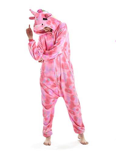 NNDOLL Pyjama Frau Tier Mann Einhorn Cosplay Kostüm Halloween Karneval Nachthemden (Mit geschlossenen Augen Pegasus, S ()
