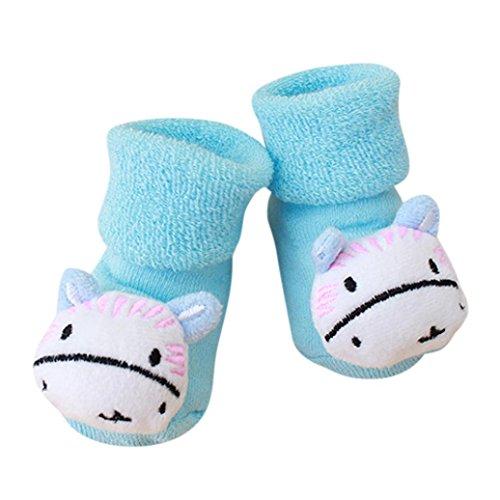 FNKDOR Kuscheltier Babysocken, 0-1 Jahr Baby Baumwolle Elastizität Born Schuhe Söckchen (G)