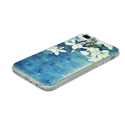 Coque iPhone 7 Plus, Coque de Protection iPhone 7 Plus Silicone TPU Gel Souple Relief Motif Etui Housse Sunroyal® Case Cover Ultra Mince Premium Confort Rigide Anti-choc Bumper - Cerf Relief-11
