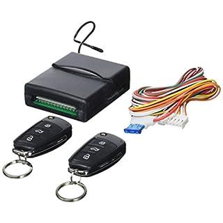 Akhan 100F68 - Funkfernbedienung Klappschlüssel für vorhandene original Zentralverriegelung, mit 2 Handsender geeignet für pneumatische, elektrische u. nachträglich eingebaute Zentralverriegelungen