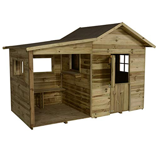 Forest Garden Forest Basil Multiplay Playhouse 8x4, Pressure Treated