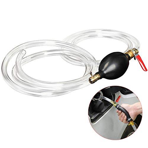 WEKON Handpumpe Wasserpumpe Notpumpe zum Umfüllen von Kraftstoff, Öl Benzin Diesel und Flüssigkeiten Absaugpumpe mit Abschaltung Clip und Silikonkugel