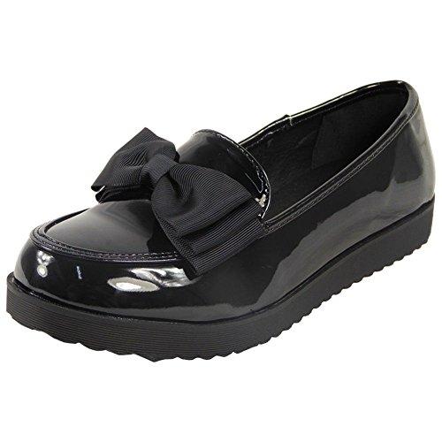Womens Low Heel Pumps Ladies Kids Flat T-Bar Work Office Girls School...