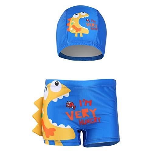 Araus costume da bagno bambino 2 pezzi pantaloncini + cuffia piscina stampa di moda