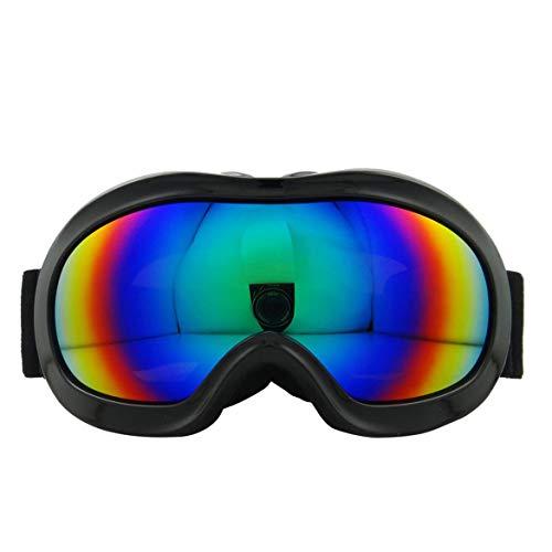 JohnJohnsen Verschiedene Art Ski Brille Anti Nebel und Double Mirror-Brille für Kinder (Schwarz)