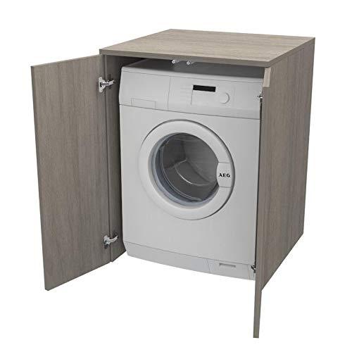 Ve.Ca. Mobile Coprilavatrice con ante, realizzato in legno, copri  lavatrice/asciugatrice, diversi colori, anche su misura, lavanderia bagno  arredo ...