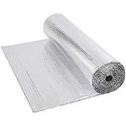 Biard - Isolant Thermique et Acoustique - Feuille Aluminium à Bulles - Isolation Sol Toit Mur - Rouleau 6m²