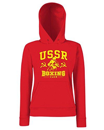 T-Shirtshock - Sweats a capuche Femme TBOXE0113 ussr boxing Rouge
