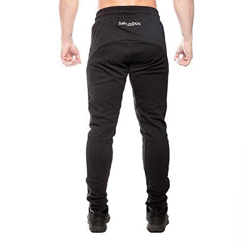 SMILODOX Regular Fit Jogginghose Herren 'Universe' | Trainingshose für Sport Fitness Gym & Freizeit | Sporthose - Jogger Pants - Sweatpants Hosen - Freizeithose Lang Anthrazit
