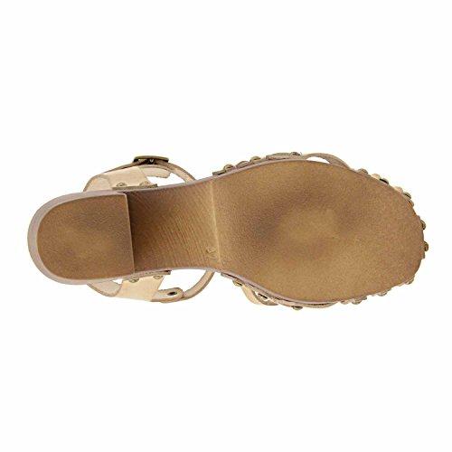 pelle scarpe col tacco CASTAGNA