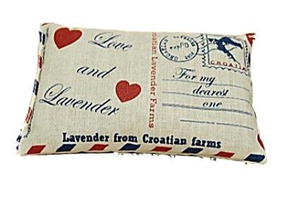 Coussin parfumé lavande dans de coussin Motif cartes postales–rempli de 70g Lavande 11x 7cm