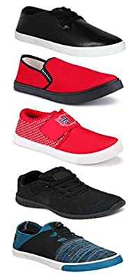 WORLD WEAR FOOTWEAR Sports Running Shoes/Casual/Sneakers/Loafers Shoes for MenMulticolors (Combo-(5)-1219-1221-1140-748-1014)