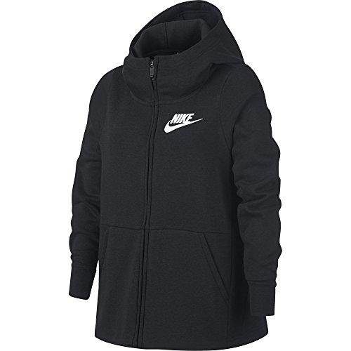 Nike Sportswear Sweat-Shirt Fille, Black/White, FR (Taille Fabricant : XL)