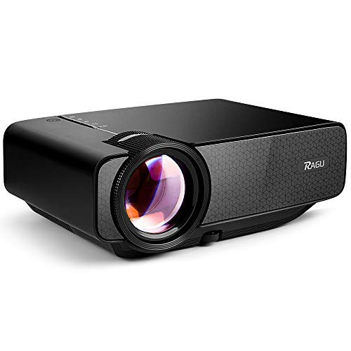 "RAGU Z400 Mini Projector, 2018 Upgraded (+85% Brightness) 130"" 1080P HD Home Movie Portable Video Projector for PC/MAC/DVD/TV/Xbox/Movies/Games/Smartphone with HDMI/VGA/USB/AV/SD"