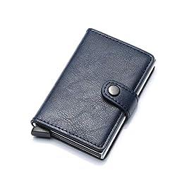 HASAGEI Portafoglio Uomo Piccolo Sottile Mini Porta Carte Credito Uomo Pelle con Protezione RFID PortaTessere per donna…