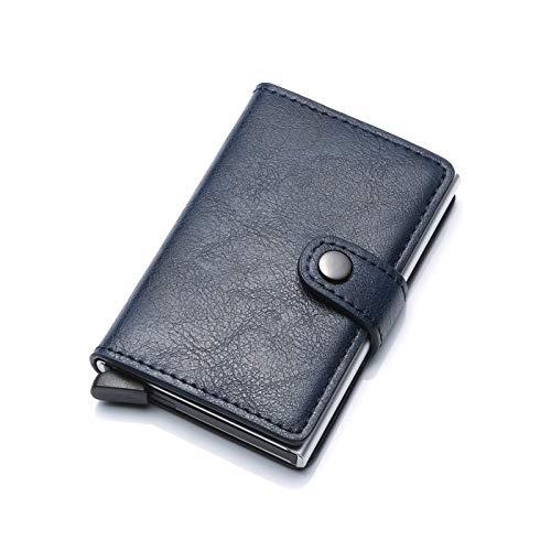 HASAGEI Tarjetero Hombre Tarjeteros para Tarjetas de Crédito Automática RFID Cuero Sintético para Mujer u Hombre