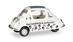 Herpa 027700-Heinkel Cabina Carello, vehículos, Color Blanco
