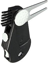 BEETEST 5 en 1 bolsillo Golf herramienta multifuncional Kit cepillo Divot herramienta bola marcador marcador contra surco limpiador
