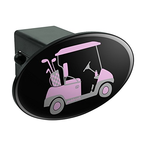 Oval Pink Golf Cart Anhängerkupplung Trailer-Plug Einsatz 5,1 cm (Bully-receiver Hitch Cover)