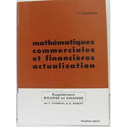 Mathématiques commerciales et financières actualisation