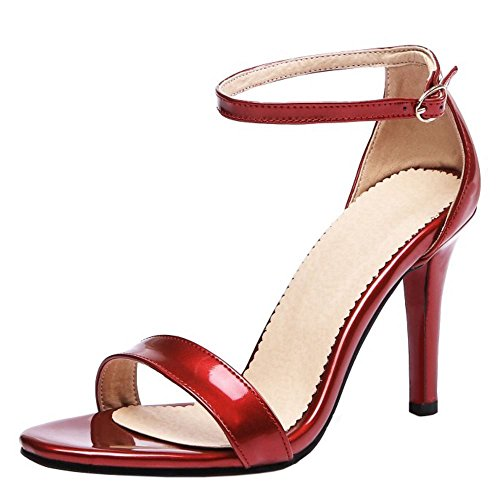 Zanpa Donna Mode Strap Sandali Alla Caviglia 1#Red