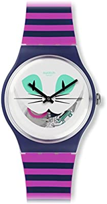 Swatch Reloj de cuarzo Unisex Cat Me Up  41 mm