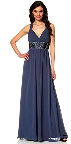 Laura Scott Evening Abendkleid m. Strass rückenfrei dunkelblau Gr. 46