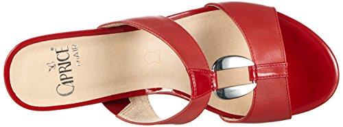 Caprice 27200 Damen Pantoletten Rot (RED 500)