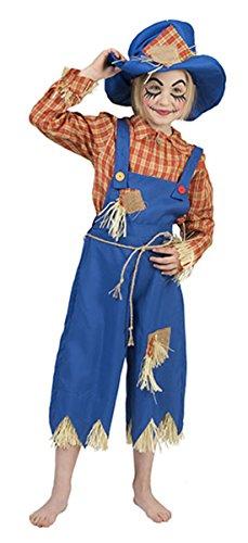 Karnevalsbud - Kinder Halloween Karneval Komplett-Kostüm Vogelscheuche, Mädchen & Jungen, 110-116, 5-6 Jahre, ()