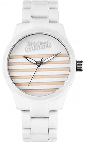 Jean Paul Gaultier 8501102–Reloj de pulsera unisex, correa de silicona color blanco