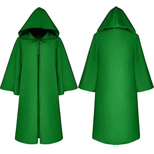 Tanz Kostüm Green - MTSBW Halloween Kostüm Todesumhang Mittelalterliche Umhang Kinder Tanz,Green,S