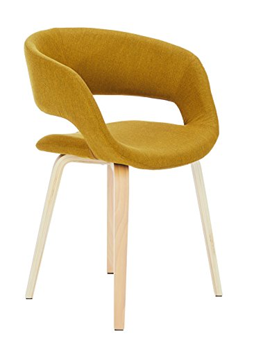 Ac design furniture, 60105, sedia da salotto jack, seduta in stoffa, giallo (gelb)