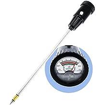 Medidor de pH y humedad del suelo Comprobador del medidor 295mm 25.9m (Electrodo largo) Comprobar la acidez de la prueba Alcalinidad para el césped Viñedo Producción de huerta Producción de jardín
