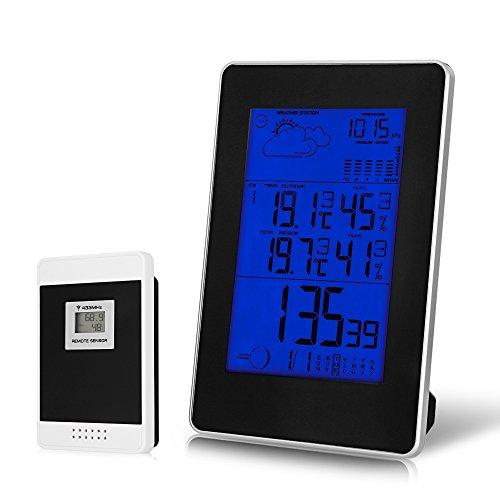 CookJoy Estación meteorológica Hidrómetro Reloj Despertador Digital