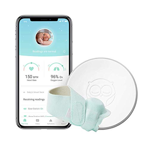 Owlet Smart Sock Baby Monitor - Track Your Infant's Heart Rate & Oxygen Levels