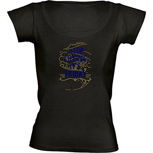 t-shirt-nero-girocollo-donne-taglia-s-pianto-fine-settimana-venerdi-by-wonderfuldreampicture