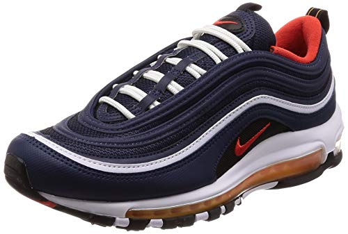 NIKE Herren Air Max 97 Fitnessschuhe, Mehrfarbig (Midnight Navy/Habanero Red/Black/White 403), 42.5 EU