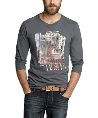 ESPRIT Herren Langarmshirt Slim Fit K30633, Gr. 48 (M), Grau (dolomit grey jersey 090)