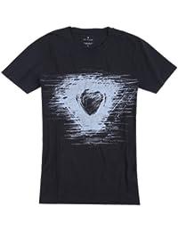 Unknown - T-shirt -  - Manches courtes Homme Noir schwarz-grau