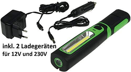 LED Akku Stablampe 160 LED, 12 und 230 V Ladegerät - 2