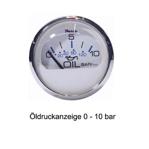 Faria Öldruckanzeige 0-10 bar Chesapeake 52 mm Durchme… | 00759266138254