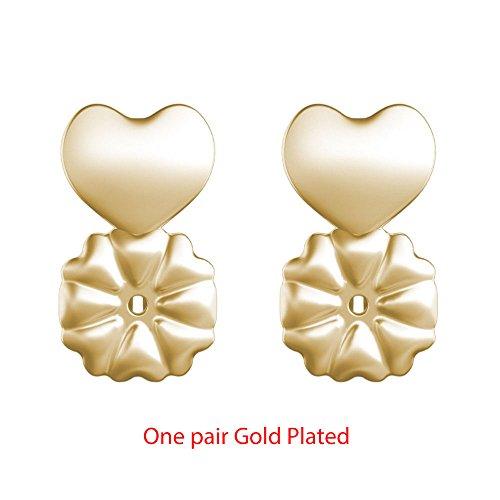 ZIXUAN Hypoallergene Ohrringaufzüge, Fashion S925 Sterling Silber Ohrring unterstützt Unterstützung, passt für alle Ohrstecker des Post Ohrringe,Gold