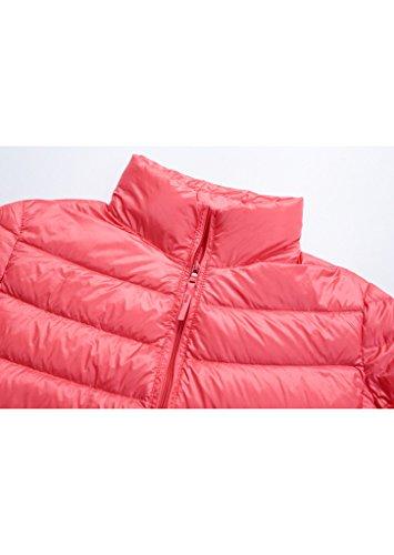 Topgraph Damen Daunenjacke mit Stehkragen Plus Size Ultra Lightweight Coat Jacke Lightdaune Pink
