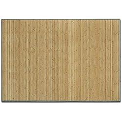 casa pura Alfombra de Bambú - Alfombras Naturales | Marigold | Estera de bambú Antideslizante | Varios tamaños a Elegir (Natural, 160x230 cm)