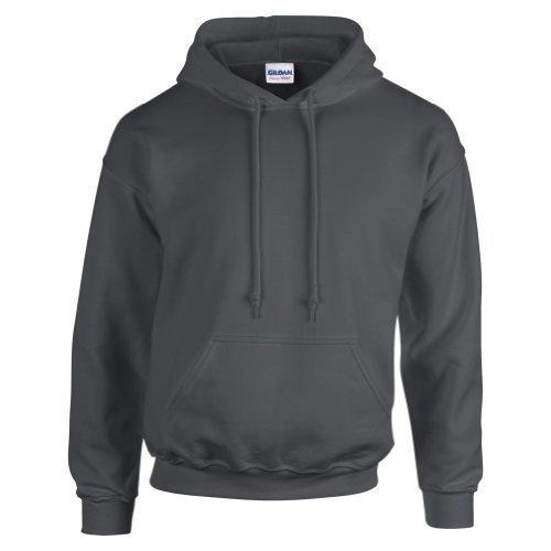 Gildan Hooded Sweatshirt Heavy Blend Plain Hoodie Pullover Hoody Charcoal M