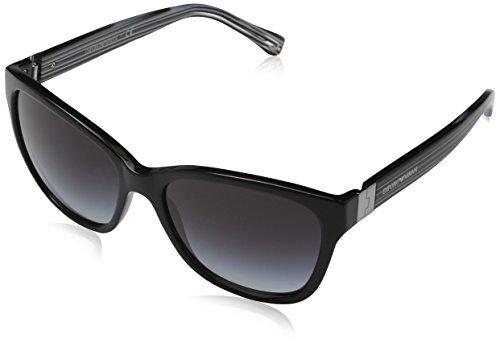 Emporio Armani Unisex EA4068 Sonnenbrille, Schwarz (Black 50178G), Large (Herstellergröße: 57)